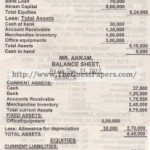 ACCOUNTING Past Paper 2nd year 2012 (Private) Karachi Board