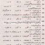 Mashiyat Solved Past Paper 1st year 2015 Karachi Board