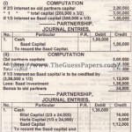 ACCOUNTING Past Paper 2nd year 2013 (Private) Karachi Board
