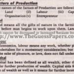 Economics (general group) Solved Past Paper 10th Class 2013 Karachi Board