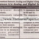 Computer Studies (general group) Solved Past Paper 10th Class 2013 Karachi Board