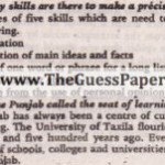 English (general group) Solved Past Paper 10th Class 2011 Karachi Board