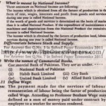 Economics (general group) Solved Past Paper 10th Class 2012 Karachi Board