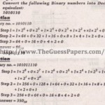 Computer Studies (general group) Solved Past Paper 10th Class 2012 Karachi Board