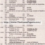 Com. Geography (general group) Solved Past Paper 10th Class 2013 Karachi Board