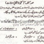 URDU IKHTIYARE Solved Past Paper 2nd year 2013 Karachi Board