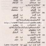 Urdu (general group) Solved Past Paper 10th Class 2014 Karachi Board
