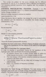 Physics Solved Past Paper 2nd year 2015 Karachi Board14