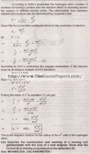 Physics Solved Past Paper 2nd year 2015 Karachi Board16