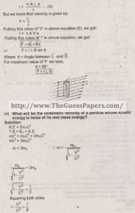 Physics Solved Past Paper 2nd year 2015 Karachi Board4