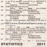 STATISTICS Solved Past Paper 2nd year 2011 Karachi Board