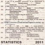 STATISTICS Solved Past Paper 2nd year 2011 Karachi Board
