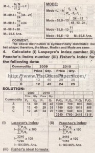 STATISTICS Solved Past Paper 2nd year 2012 Karachi Board (Private)5