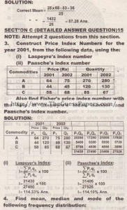 STATISTICS Solved Past Paper 2nd year 2012 Karachi Board4