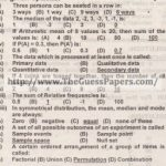 STATISTICS Solved Past Paper 2nd year 2013 Karachi Board (Private)