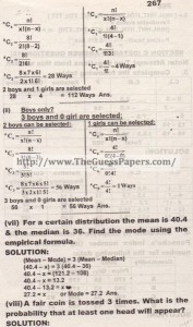 STATISTICS Solved Past Paper 2nd year 2013 Karachi Board (Private)4