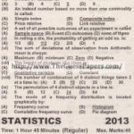 STATISTICS Solved Past Paper 2nd year 2013 Karachi Board (Regular)