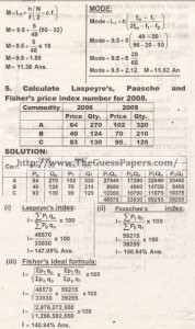 STATISTICS Solved Past Paper 2nd year 2014 Karachi Board (Private)6