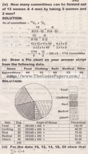 STATISTICS Solved Past Paper 2nd year 2014 Karachi Board (Regular)2