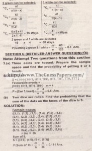 STATISTICS Solved Past Paper 2nd year 2015 Karachi Board (Regular and Private)4