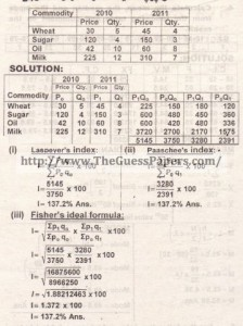 STATISTICS Solved Past Paper 2nd year 2015 Karachi Board (Regular and Private)6