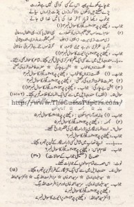 Urdu Past Paper 2nd year 2011 (Private) Karachi Board