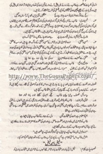 Urdu Past Paper 2nd year 2014 (Regular) Karachi Board20