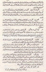 Urdu Past Paper 2nd year 2014 (Regular) Karachi Board21