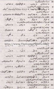 Urdu Solved Past Paper 2nd year 2011 Karachi Board1