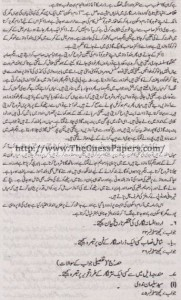 Urdu Solved Past Paper 2nd year 2013 Karachi Board7