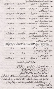 Urdu Solved Past Paper 2nd year 2014 Karachi Board1
