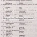 Zoology Solved Past Paper 2nd year 2013 Karachi Board
