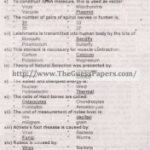 Zoology Solved Past Paper 2nd year 2014 Karachi Board