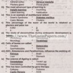 Zoology Solved Past Paper 2nd year 2015 Karachi Board